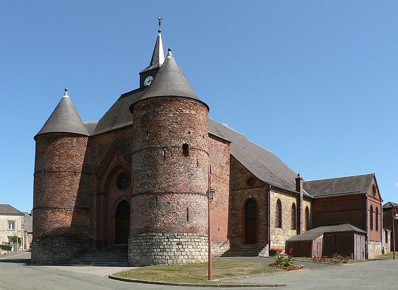 Photo du Monument Historique Eglise situé à Wimy