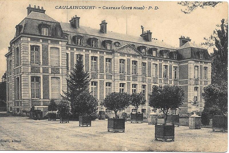 Photo du Monument Historique Château de Caulaincourt situé à Caulaincourt