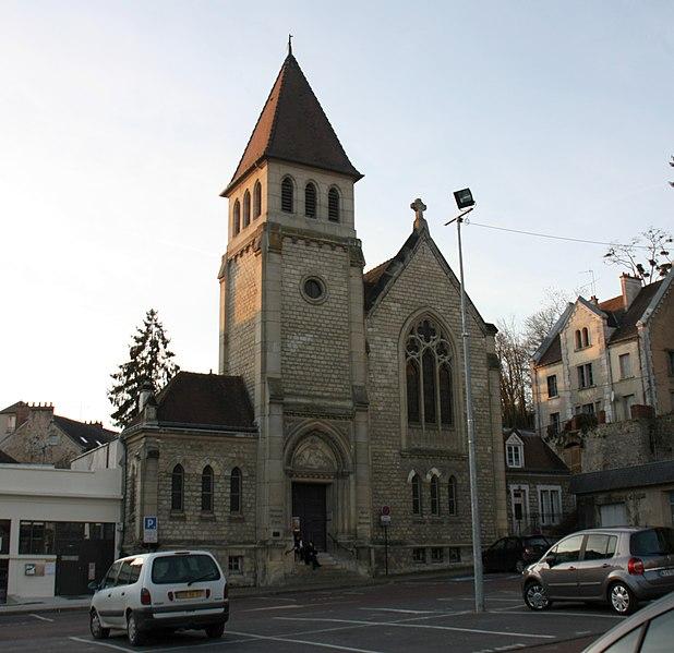 Photo du Monument Historique Temple protestant dit église évangélique situé à Château-Thierry