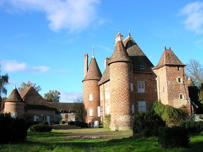 Photo du Monument Historique Château de la Cour-en-Chapeau situé à Chapeau