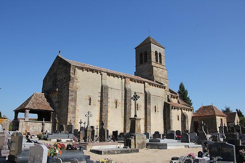 Photo du Monument Historique Eglise Saint-Martin situé à Coulandon