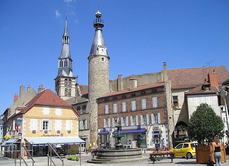 Photo du Monument Historique Beffroi situé à Saint-Pourçain-sur-Sioule