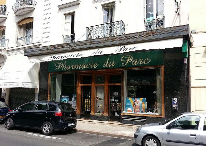 Photo du Monument Historique Pharmacie du Parc situé à Vichy