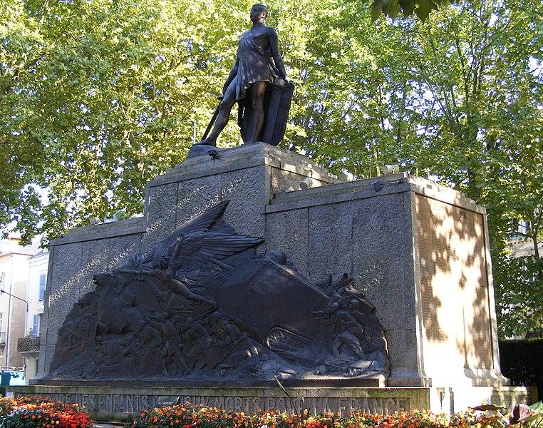 Photo du Monument Historique Monument aux morts situé à Vichy