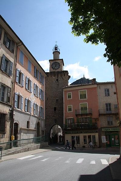 Photo du Monument Historique Tour de l'Horloge situé à Castellane