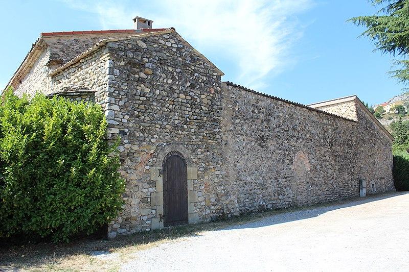 Photo du Monument Historique Prieuré Saint-Pierre-ès-Liens (restes) situé à Château-Arnoux-Saint-Auban