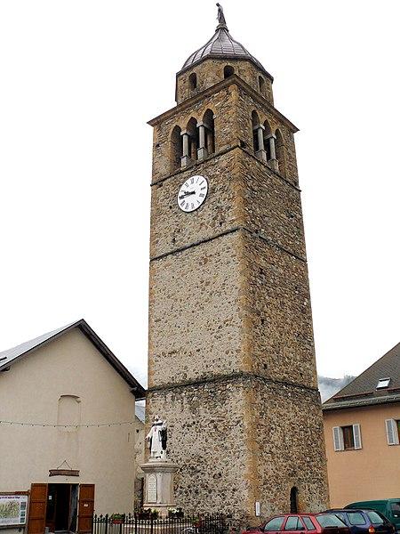 Photo du Monument Historique Eglise situé à Faucon-de-Barcelonnette