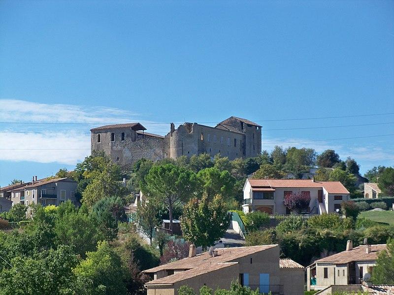 Photo du Monument Historique Château des Templiers situé à Gréoux-les-Bains