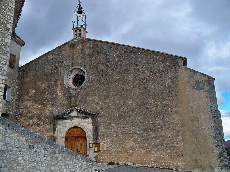 Photo du Monument Historique Eglise situé à Simiane-la-Rotonde