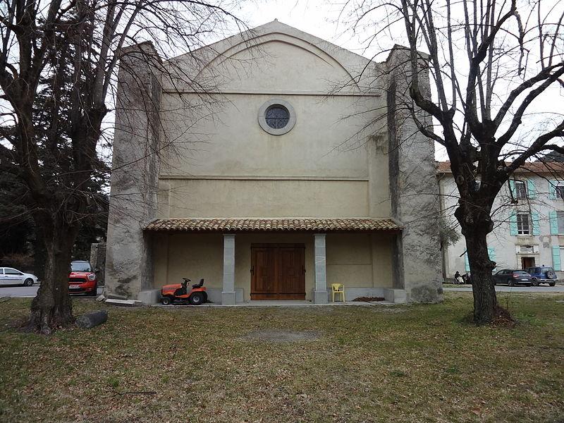 Photo du Monument Historique Ancienne cathédrale de Glandèves, Notre-Dame de la Sed, dite aussi chapelle de l'Hôpital situé à Entrevaux