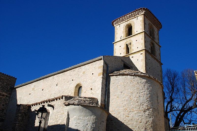 Photo du Monument Historique Eglise paroissiale Saint-Jean-Baptiste situé à Mallefougasse-Augès