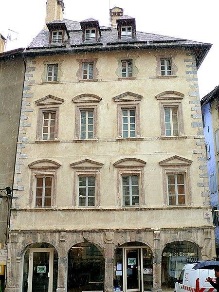 Photo du Monument Historique Maison dite maison du Temple situé à Briançon
