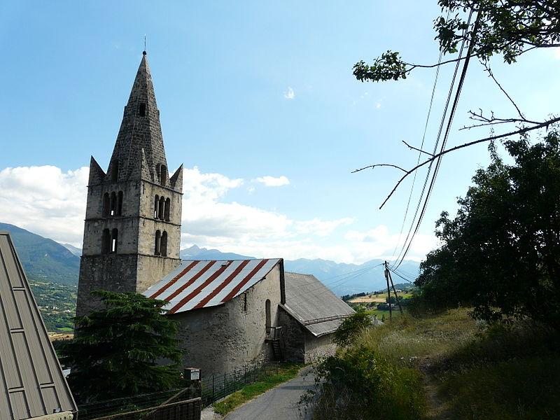Photo du Monument Historique Eglise situé à Châteauroux-les-Alpes