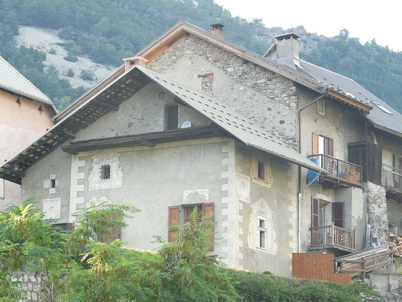 Photo du Monument Historique Maison Giraud situé à L'Argentière-la-Bessée