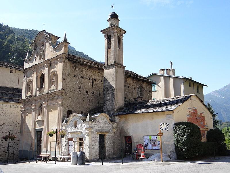Photo du Monument Historique Chapelle inférieure de l'Assomption ou chapelle des Pénitents Blancs d'en-bas situé à La Brigue