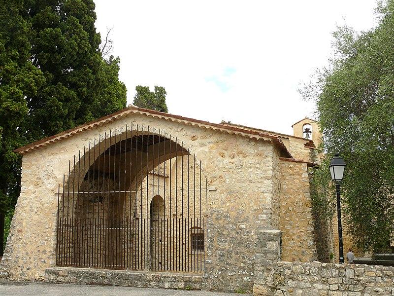 Photo du Monument Historique Eglise Notre-Dame du Brusc situé à Châteauneuf-Grasse