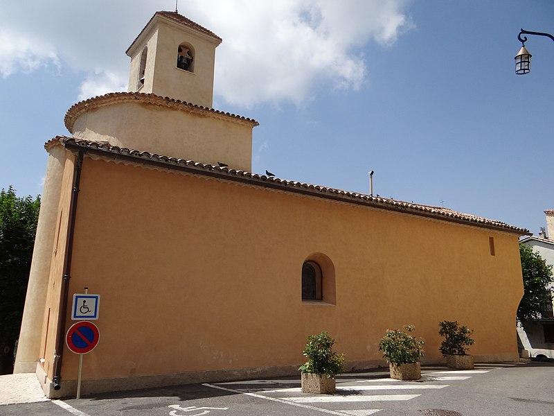 Photo du Monument Historique Eglise situé à Coursegoules
