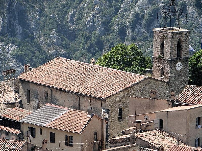 Photo du Monument Historique Eglise situé à Gréolières