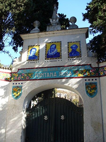Photo du Monument Historique Jardin des Romanciers ou Fontana Rosa situé à Menton