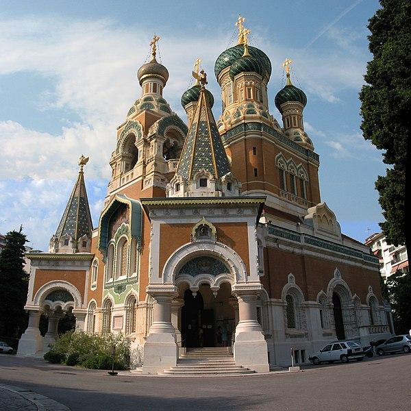 Photo du Monument Historique Cathédrale orthodoxe Saint-Nicolas et chapelle du tsarévitch Nicolas Alexandrovitch situé à Nice