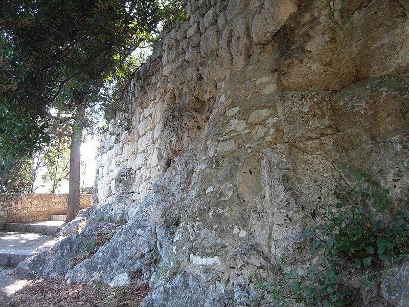 Photo du Monument Historique Mur présumé ligure (vieux) situé à Nice
