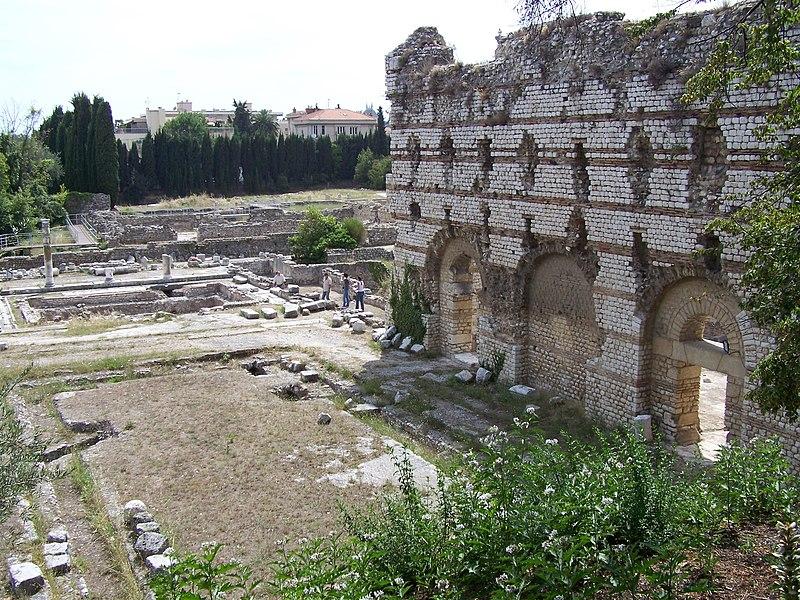 Photo du Monument Historique Thermes romains de Cimiez, dans le domaine de la villa Garin de Cacconata situé à Nice