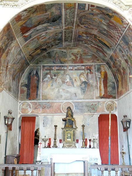 Photo du Monument Historique Chapelle des Pénitents blancs ou chapelle Notre-Dame-des-Sept-Douleurs situé à Peillon
