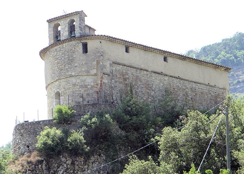 Photo du Monument Historique Eglise Sainte-Pétronille situé à Roquesteron