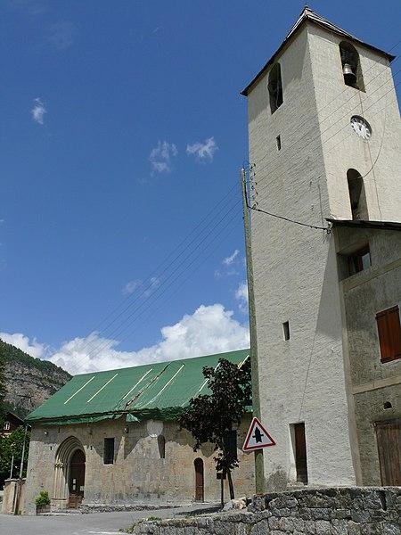 Photo du Monument Historique Eglise situé à Saint-Martin-d'Entraunes