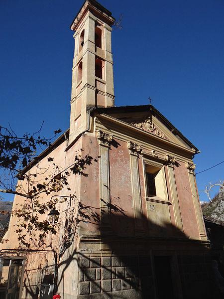 Photo du Monument Historique Chapelle des Pénitents Rouges ou de Saint-Sébastien situé à Saorge