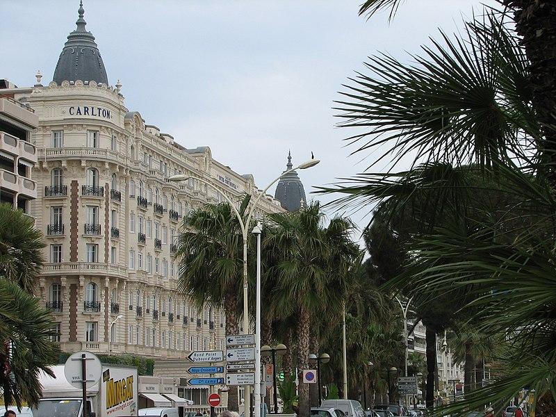 Photo du Monument Historique Hôtel Carlton situé à Cannes