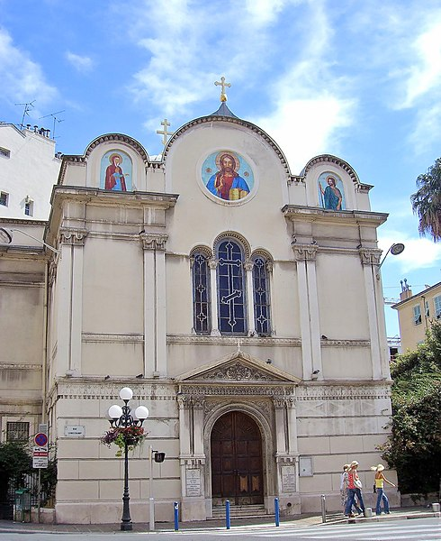 Photo du Monument Historique Eglise orthodoxe russe Saint-Nicolas et Sainte-Alexandra situé à Nice