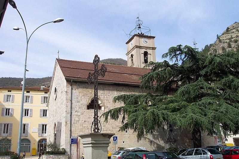 Photo du Monument Historique Eglise paroissiale Notre-Dame-de-l'Assomption situé à Puget-Théniers