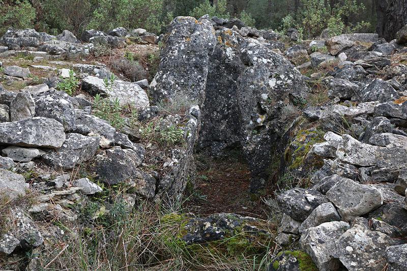 Photo du Monument Historique Dolmen de Colbas I situé à Saint-Cézaire-sur-Siagne