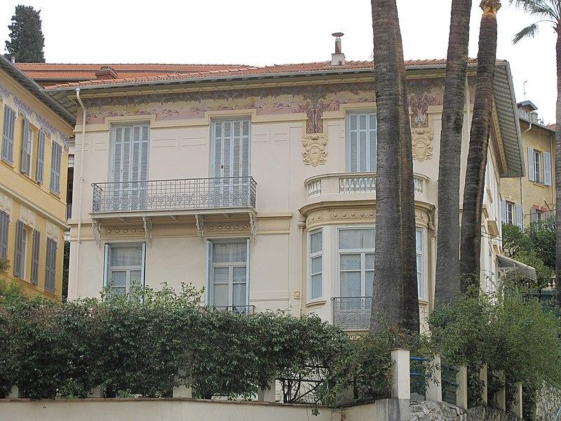Photo du Monument Historique Ancienne villa les Mouettes situé à Menton