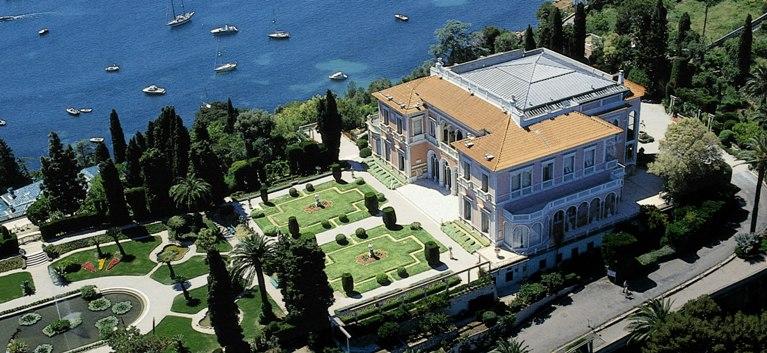 Photo du Monument Historique Villa Ile-de-France ou villa Ephrussi-de-Rothschild situé à Saint-Jean-Cap-Ferrat