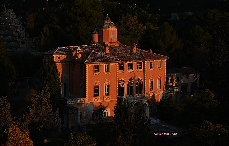Photo du Monument Historique Demeure dite abbaye de Roseland, quartier de Fabron situé à Nice