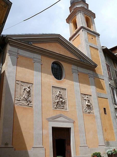 Photo du Monument Historique Chapelle Sainte-Croix ou des Pénitents blancs situé à Saint-Martin-Vésubie