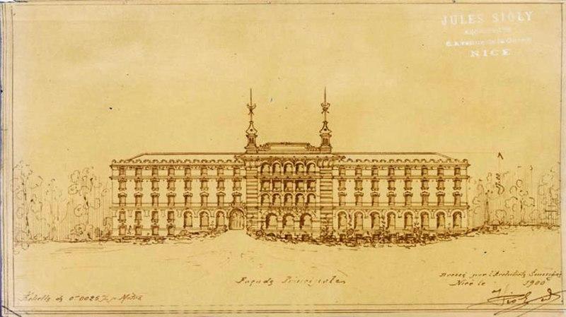 Photo du Monument Historique Ancien Hôtel Alhambra situé à Nice