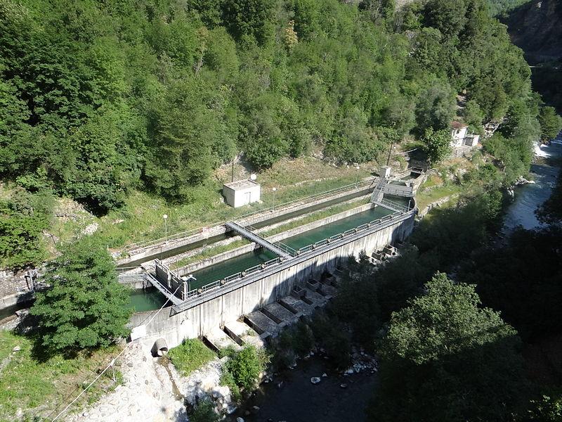 Photo du Monument Historique Prise d'eau de Saint-Jean-la-Rivière, ouvrage de tête du canal de la Vésubie situé à Utelle