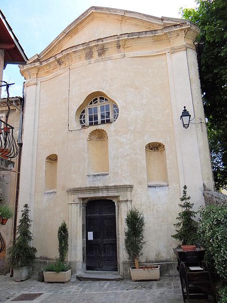 Photo du Monument Historique Chapelle Saint-Pierre ou chapelle des Pénitents noirs situé à Lucéram