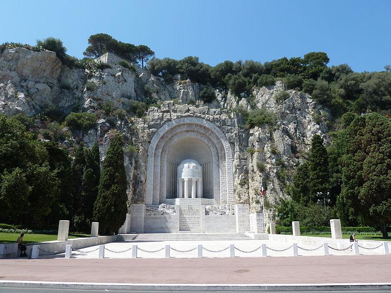 Photo du Monument Historique Monument aux morts de la guerre de 1914 - 1918 situé à Nice