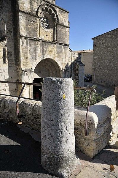 Photo du Monument Historique Deux bornes milliaires gallo-romaines situé à Cruas