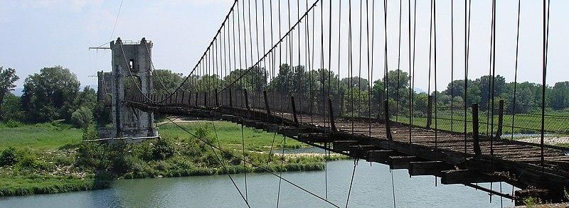 Photo du Monument Historique Pont de Rochemaure sur le Rhône situé à Rochemaure