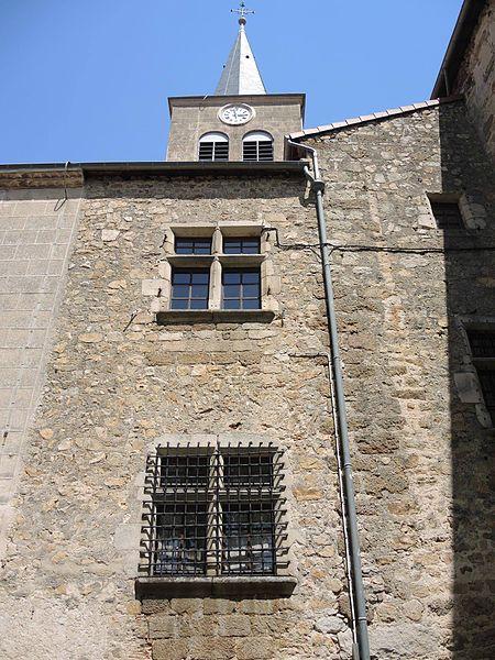 Photo du Monument Historique Presbytère (ancien château) situé à Satillieu