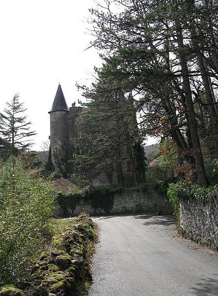 Photo du Monument Historique Château de Chassagnes situé à Les Vans