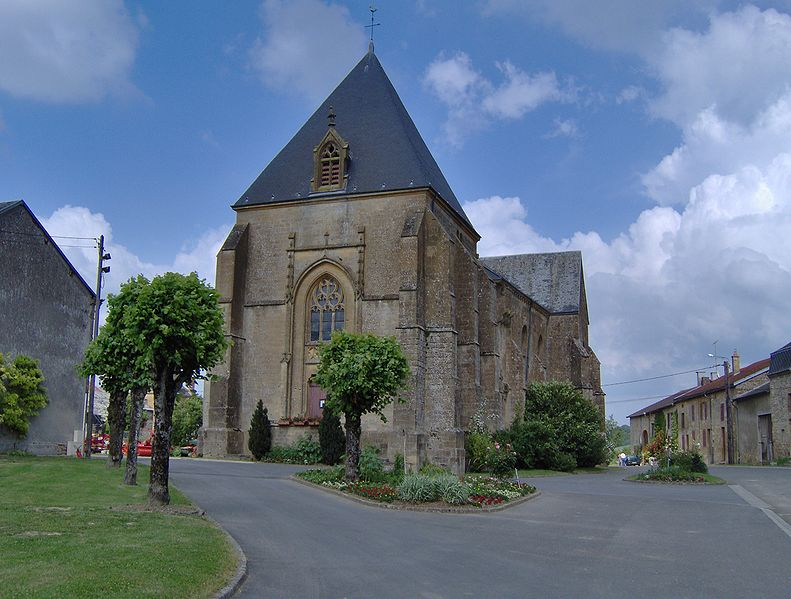 Photo du Monument Historique Eglise situé à Brieulles-sur-Bar