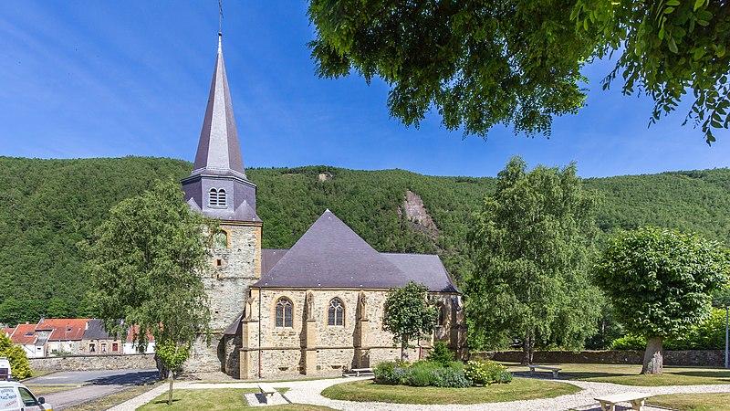 Photo du Monument Historique Eglise Saint-Léger situé à Monthermé