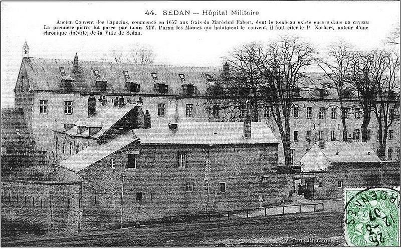 Photo du Monument Historique Couvent des Capucins Irlandais , puis hôpital militaire situé à Sedan