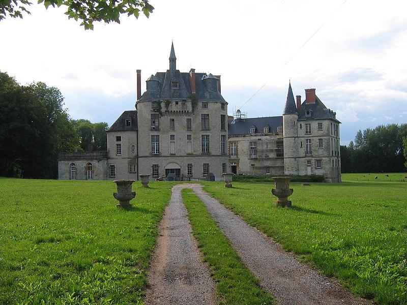 Photo du Monument Historique Château, parc et grange aux dîmes situé à Thugny-Trugny